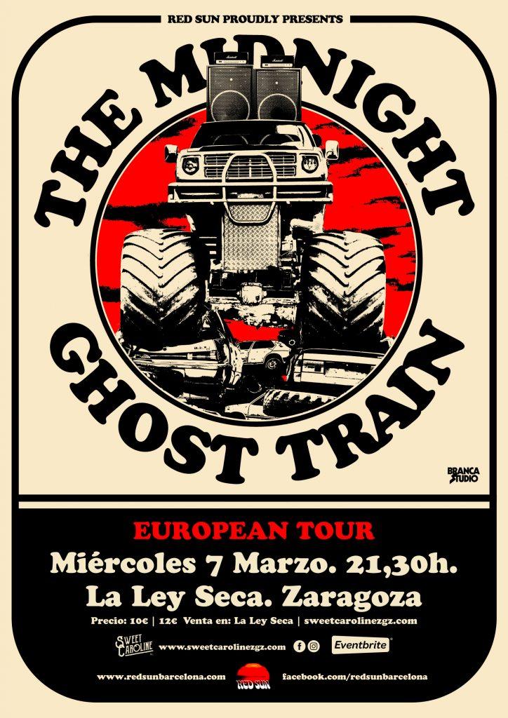 Midnight ghost train concierto rock zaragoza