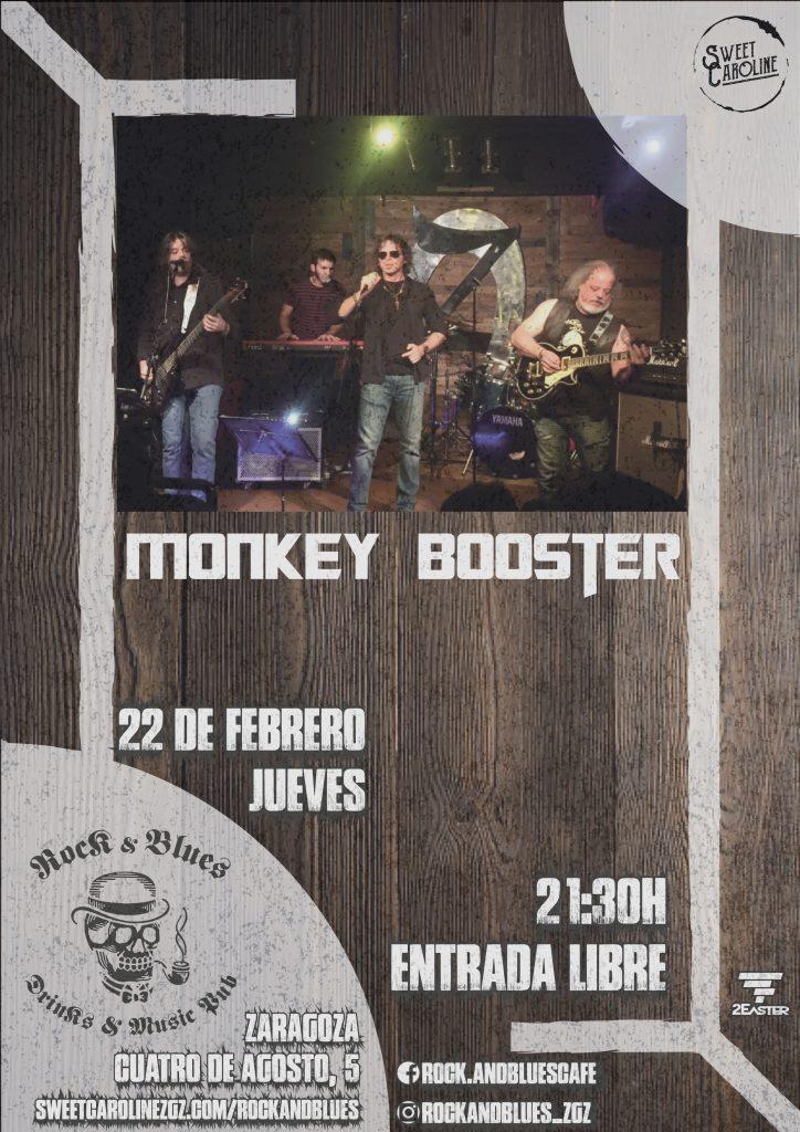 monkey booster concierto rock zaragoza
