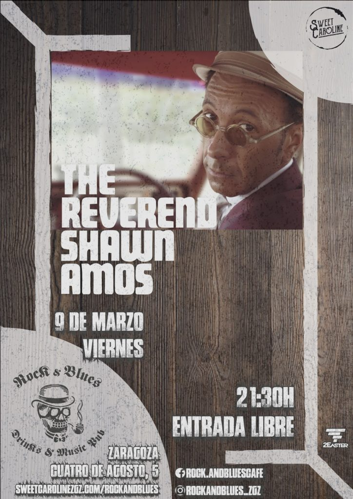 reverend shawn amos concierto blues zaragoza