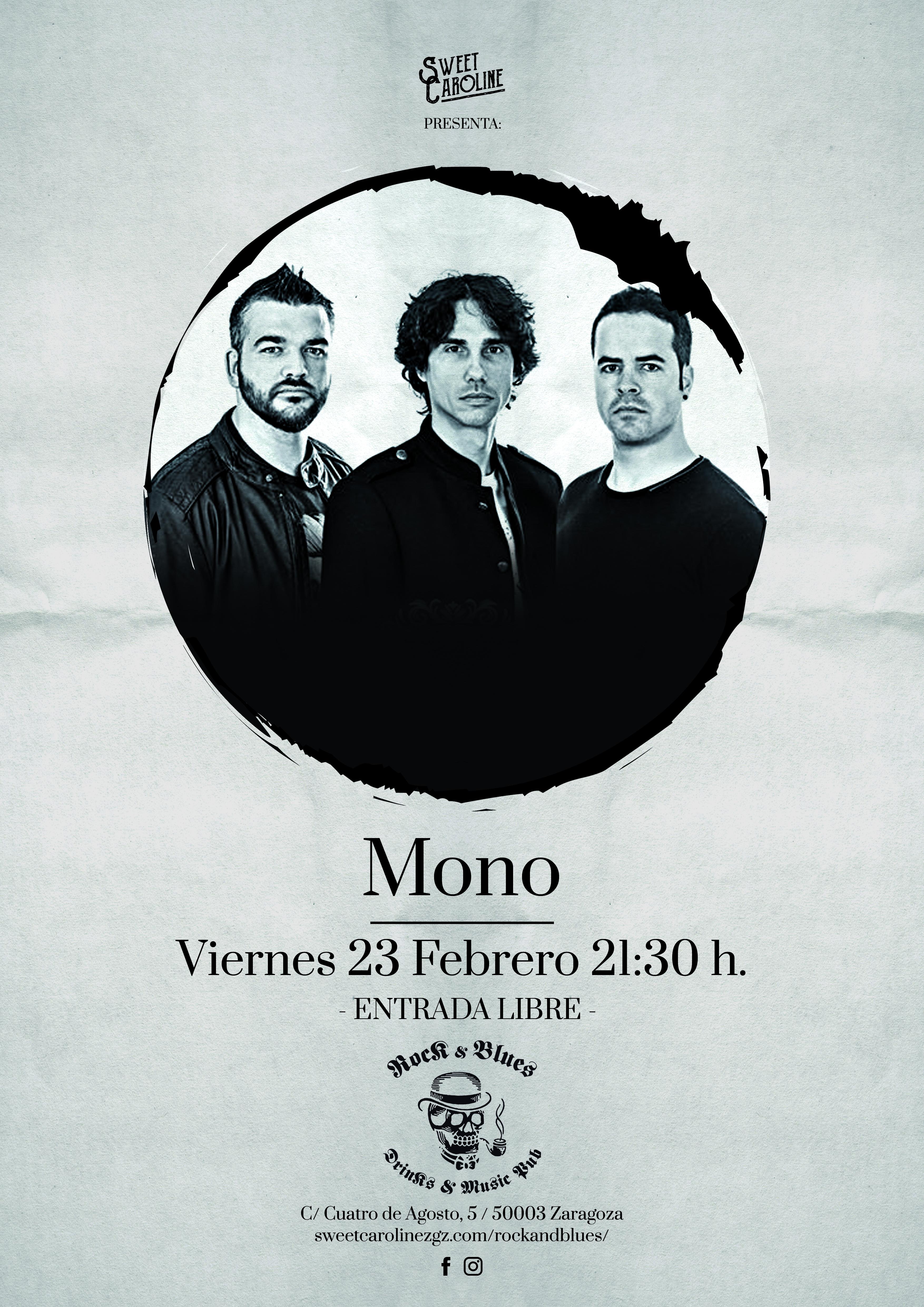 mono concierto pop rock zaragoza